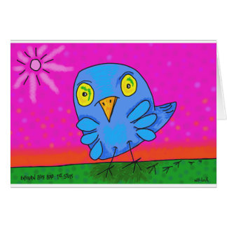 "Eastern Blue Bird:1st Steps..5""x 7' note card. Card"