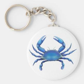 Eastern Blue Crab Basic Round Button Keychain