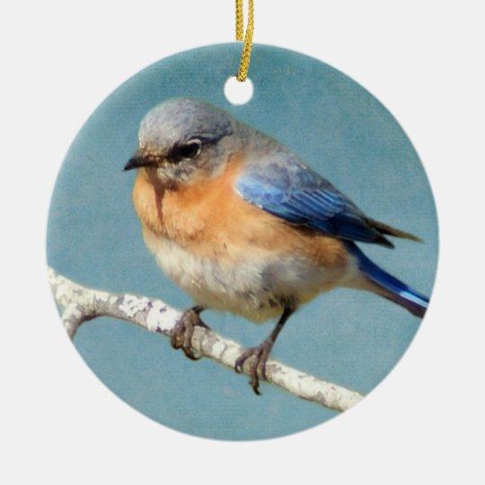 Eastern Bluebird Ceramic Ornament
