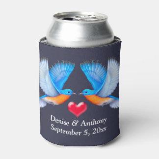 Eastern Bluebird Customized Wedding Can Cooler