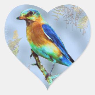Eastern Bluebird Heart Sticker