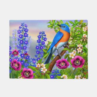 Eastern Bluebird in the Garden Doormat