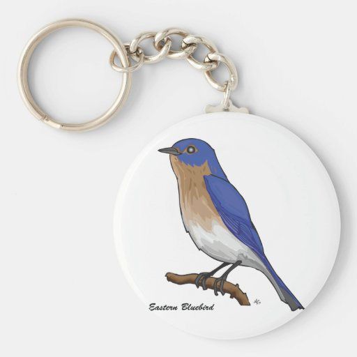 EASTERN BLUEBIRD KEY CHAIN