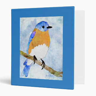 Eastern Bluebird – male -  watercolor style binder