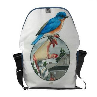 """""""Eastern Bluebird"""" Messenger Bag"""