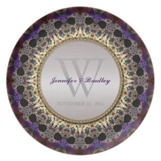 Eastern Bohemian Art Wedding Keepsake Gift Plate