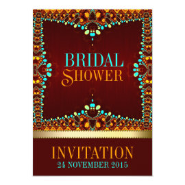 Eastern Bohemian Bridal Shower Invitations