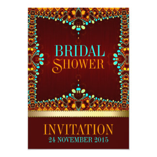 "Eastern Bohemian Bridal Shower Invitations 5"" X 7"" Invitation Card"