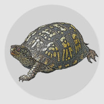 Eastern Box Turtle Coordinating Items Classic Round Sticker