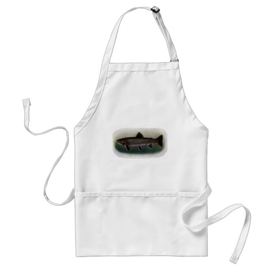 Eastern Brook Trout Painting Adult Apron