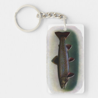 Eastern Brook Trout Painting Single-Sided Rectangular Acrylic Keychain