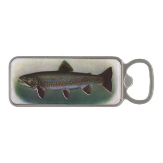 Eastern Brook Trout Painting Magnetic Bottle Opener