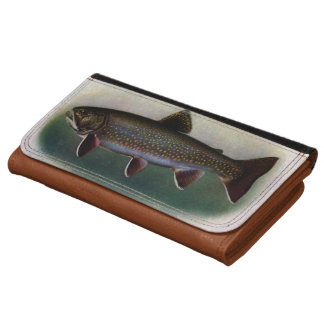 Eastern Brook Trout Painting Leather Wallet