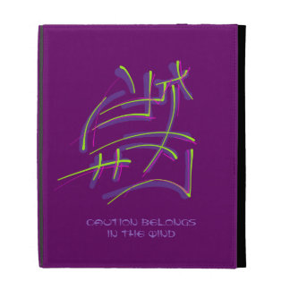 Eastern Calligraphy - Caution Belongs in the WInd iPad Folio Cover