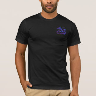 Eastern Calligraphy Glyphs - Blues, Purples T-Shirt