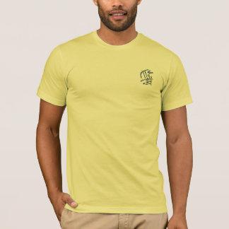 Eastern Calligraphy Glyphs - Blues, Yellows T-Shirt
