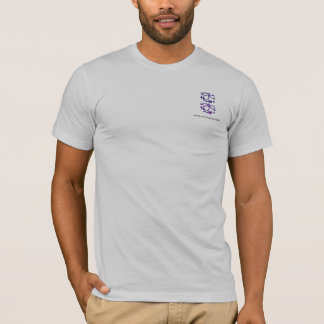 Eastern Calligraphy Glyphs - Dark Blues, Purples T-Shirt