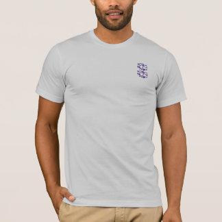 Eastern Calligraphy Glyphs - Dark Blues, Purples T-Shirt