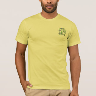 Eastern Calligraphy Glyphs - Green Purple Yellow T-Shirt