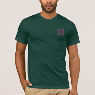 Eastern Calligraphy Glyphs - Pinks and Greens T-Shirt