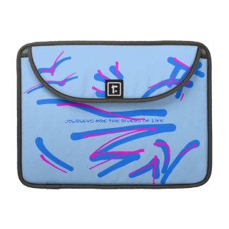 Eastern Calligraphy - Pink and Blues, Wise Sayings Sleeve For MacBook Pro