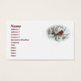 Eastern Cardinal Songbird Business Card