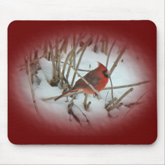 Eastern Cardinal Songbird Coordinating Items Mouse Pad