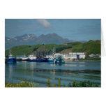 Eastern Channel, Dutch Harbor, AK Greeting Card