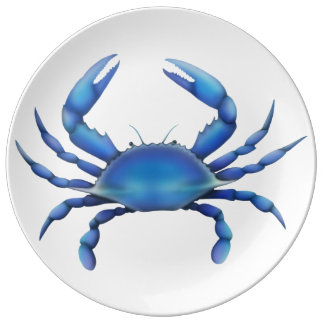 Eastern Chesapeake Blue Crab Porcelain Plate
