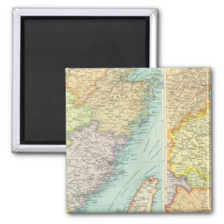Eastern China political map 2 Inch Square Magnet