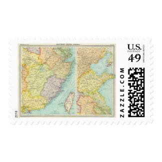 Eastern China political map Postage
