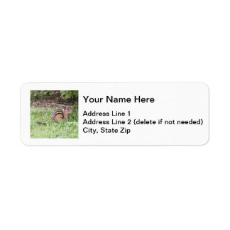 Eastern Chipmunk Label