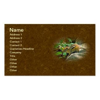 Eastern Chipmunk on Log Business Card Template