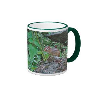 Eastern Chipmunk on Rock Ringer Coffee Mug