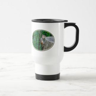 Eastern Chipmunk on Stump Travel Mug