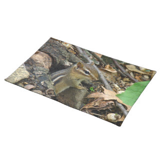 Eastern Chipmunk - Tamias striatus Cloth Placemat