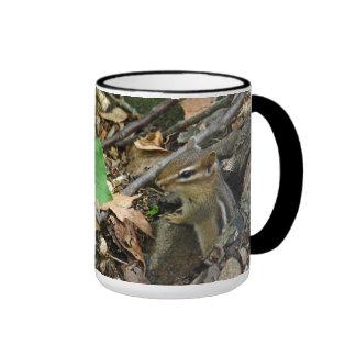 Eastern Chipmunk - Tamias striatus Ringer Coffee Mug