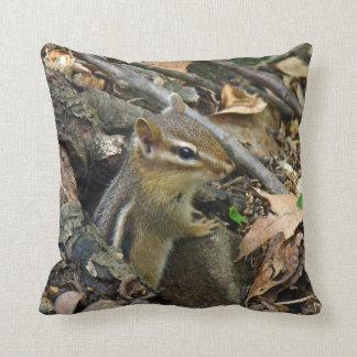 Eastern Chipmunk - Tamias striatus Throw Pillow