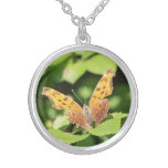 Eastern Comma Round Pendant Necklace