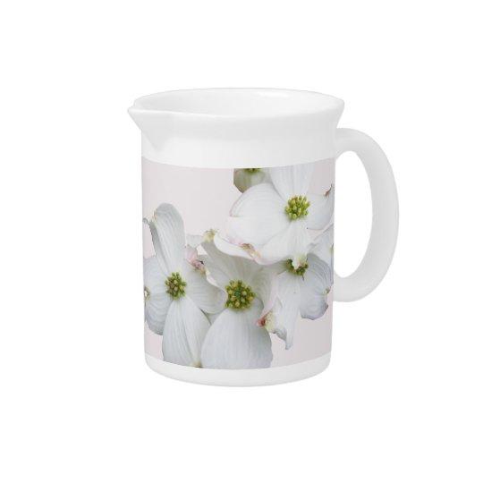 Eastern Dogwood Blossoms - Cornus florida Beverage Pitcher