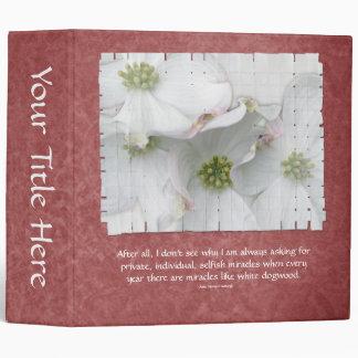 Eastern Dogwood Blossoms - Cornus florida Binder