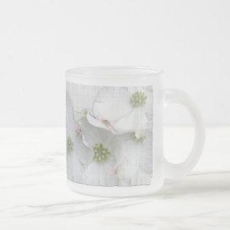 Eastern Dogwood Blossoms - Cornus florida Frosted Glass Coffee Mug
