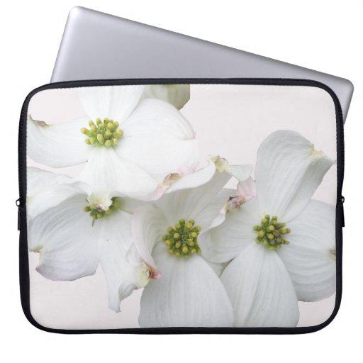 Eastern Dogwood Blossoms - Cornus florida Laptop Computer Sleeve