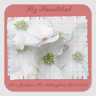 Eastern Dogwood Blossoms - Cornus florida Square Sticker