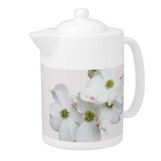 Eastern Dogwood Blossoms - Cornus florida Teapot