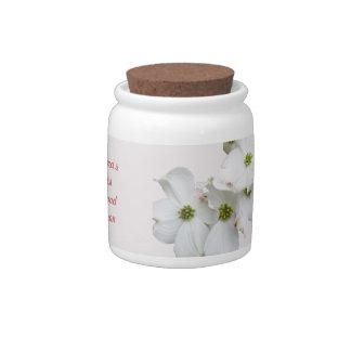 Eastern Dogwood Blossoms - Grandma's Treats Candy Dish