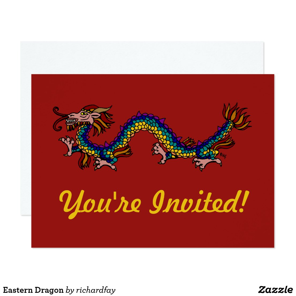 Eastern Dragon Invitation