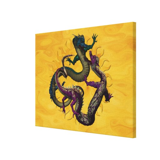 Eastern Dragons Wrapped Canvas Gallery Wrapped Canvas