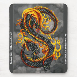 Eastern Fire Asian Dragon Mousepad