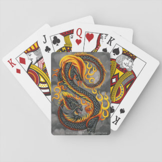Eastern Fire Dragon Playing Cards